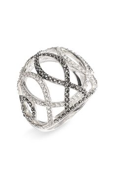 Judith Jack 'Licorice' RingColor:STERLING SILVER/ MARCASITE