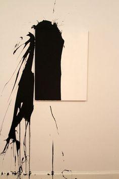 WILLIAM ANASTASI Untitled, 2013 one gallon of industrial high-gloss enamel, thrown 60 × 50 in 152.4 × 127 cm Half Gallery
