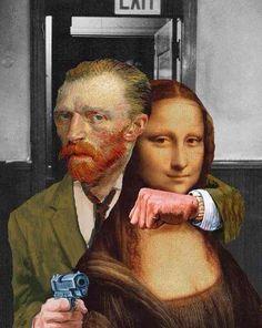 Van Gogh and Mona Lisa