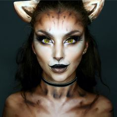 """17.6 mil curtidas, 228 comentários - Ellie H-M (@ellie35x) no Instagram: """"Cat Makeup Honestly I just really wanted to turn myself into a cat, just having some fun! Eyes-…"""""""