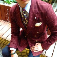 BR x Reda Jacket Red Window Pane DB