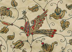 "Undershirt (detail),  c.16th century ~ Italian ~ linen, silk and metal thread ~ Marking: [stamp] ""Donne San Teodoro"" ~ Metropolitan Museum of Art"