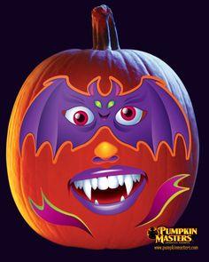 A transfer pattern from the Pumpkin Masters Kid's Pumpkin Sticker Kit.