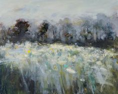 Hannah Woodman, 'Field of Narcissi' 2014 Oil on board SOLD Landscape Artwork, Abstract Landscape Painting, Contemporary Landscape, Abstract Art, Impressionist Paintings, Seascape Paintings, Oil Paintings, Virtual Art, Art Academy