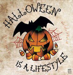 halloween tattoo designs | Halloween Is A Lifestyle Tattoo Design
