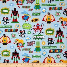 Superhero Characters Adventure - Discount Designer Fabric - Fabric.com