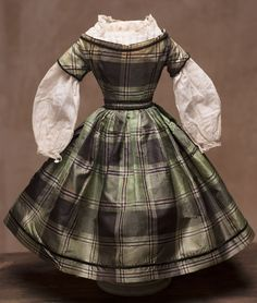 """Antique Original Huret style Dress and blouse for doll about 14-15"""" (43-45 cm)"""
