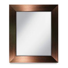 13 -1/2 X 16 -1/2 Siena Bronze Frame with 11 X 14 Mirror