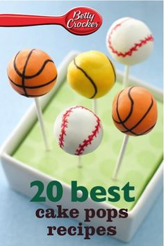 "Read ""Betty Crocker 20 Best Cake Pops Recipes"" by Betty Crocker available from Rakuten Kobo. Enjoy the best cake pops with Betty Crocker Photo of Every Recipe Cake pops are bite-sized fun, and Betty Crocker brings. Oreo Cake Pops, Cookie Pops, Cookies And Cream Cake, Yummy Cookies, Cake Cookies, Cupcake Cakes, Betty Crocker, Cakepops, Sport Cakes"
