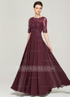 ... Neck Floor-Length Beading Sequins Zipper Up Sleeves Sleeves No 2015  Other Colors Spring Summer Fall General Plus Chiffon Lace Mother of the Bride  Dress 28c334b6ea1f