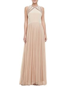 debfbe545c65 Rebecca Taylor Georgette Sleeveless Gown - Neiman Marcus Maxi Skirts  Online
