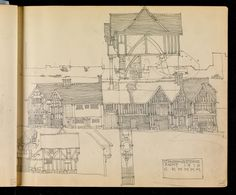 Hunterian Art Gallery Mackintosh collections: GLAHA 53014/25 Building Illustration, Charles Rennie Mackintosh, Glasgow School, Beautiful Drawings, William Morris, Vintage World Maps, Art Pieces, Art Gallery, Architectural Drawings