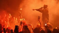 Kanye West finally makes his return to the stage at a Kid Cudi concert