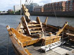"""The replica Hanseatic cog ship, """"Roland of Bremen,"""" which sank to the bottom of the River Weser on Monday evening, has been rescued and is back in floating mode yet again.  Read more: http://www.digitaljournal.com/news/world/replica-hanseatic-cog-ship-rescued-and-back-on-top-in-bremen/article/368127"""