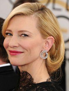 2014 Golden Globe winner Cate Blanchett • Earrings by Chopard