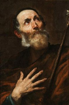 via Alma Kuzma    Ribera, Jusepe de (Spanish painter and printmaker, baptized in 1591, died 1652, active in Italy)    Title The Hermit  1610 -1652  Material oil on canvas  Measurements 66.9 x 44.5 cm