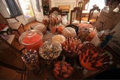 Candy Bar - I love doing this for sleepovers. Nothing like an unlimited supply of sugar to keep them going all night.
