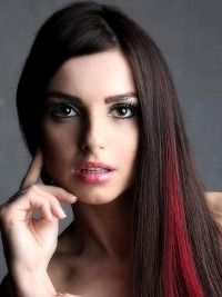 red highlights in brown hair -