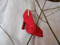 SALE   Apple Cinnamon Ruby Slipper Ornament by GlitteringMoon, $4.25