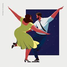#lalaland #ost #alovelynight #movie #illustration #illust #drawing #일러스트 #영화 #라라랜드