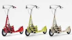 The Walking Bicycle, elliptical cross trainer on wheels that is capable of speeds up to 24 km/h (15 mph) thanks to an electric motor  $2000
