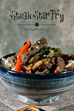 Steak Stir Fry | Cravings of a Lunatic | Simple recipe for steak stir fry and a giveaway for a 5 Piece Wüsthof Knife Set