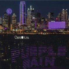Dallas,Tx lit up in purple in honor of Prince. Song Memes, In Memorium, Early Music, Prince Rogers Nelson, Purple Reign, World Cities, My Prince, Pretty Baby, Picture Collection