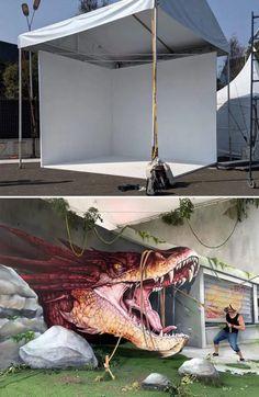 50 grafitis increíbles con ilusiones 3D por Scaf - Marcianos 3d Street Art, Street Graffiti, Street Artists, Art Français, 3d Art, Best Graffiti, Graffiti Art, Ar Fresco, Cool Optical Illusions