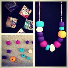 Just made my first Fimo necklace!!! I loooove it!!!