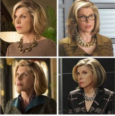 Some of Diane Lockhart's Necklaces.  Images courtesy of The Good Wife Fan.