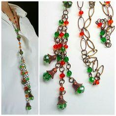 Collier sautoir bohème hippie chic *Ballade à Burano* : Collier par echappee-perles