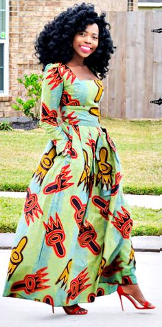 African print dresses can be styled in a plethora of ways. Ankara, Kente, & Dashiki are well known prints. See over 50 of the best African print dresses. African Dresses For Women, African Print Dresses, African Attire, African Wear, African Women, African Prints, African Style, African American Fashion, African Inspired Fashion