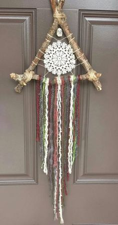Items similar to Small Bohemian Handmade and Vintage Dream Catcher on Etsy bohemian wedding Items similar to Small Bohemian Handmade and Vintage Dream Catcher on Etsy Crochet Wall Hangings, Dream Catcher Craft, Crochet Dreamcatcher, Diy And Crafts, Arts And Crafts, Crochet Decoration, Crochet Amigurumi, Boho Diy, Crochet Home