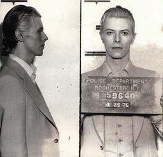 Bowie mugshot, 1976