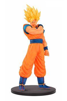 Estatua Super Saiyan Goku, 18 cm, Dragon Ball. Resolution of Soldier, Banpresto  Figura de 19 cm, del personaje de Goku en forma Super Saiyan, perteneciente a la serie Dragon Ball, creada por Banpresto. Esta serie también incluye a Son Gohan, Vegeta y Mr. Satan