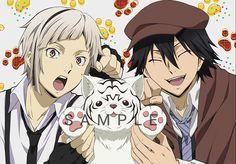 Atsushi and Rampo Stray Dogs Anime, Bongou Stray Dogs, Manga Boy, Anime Manga, Edogawa Ranpo, Mystery, Comedy, Dog Wallpaper, Hot Couples