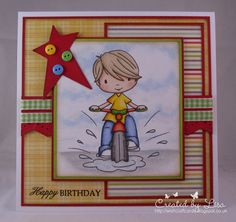"""Image is one of DigiStamp Boutique's """"offer of the month"""" sets, Funtime Dan."""