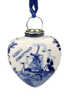 Delft Blue Heart Christmas Ornament. $8.95 Product of Nederland