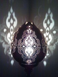 su kabağından dekoratif aydınlatma...