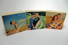 Anniversary Personalized Photo Wood Block Set by AsqueStudio, $24.00