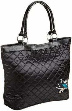 NHL San Jose Sharks Quilted Tote, Black by Little Earth. $21.89. Save 44%!