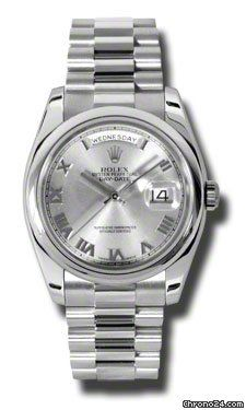 Rolex Day-Date Grey Dial Automatic Platinum Mens Watch 118206GYRP $44,352 #Rolex…
