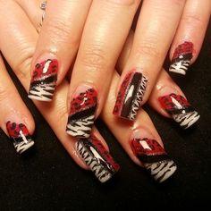 @Brittany Horton Horton Campbell #nails #swag #animalprint #zebra #leopard #nailartt #coolnails #nailbling #nailsaloninOviedoFl #stilettonailsinOviedoFL #coffinnails #nailsbyLindaReyes #nailsdonerightdotcom (at Nails Done Right)