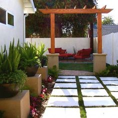 Side Yard Garden -- Asian Design. Just would love to add a fountain to this picture.