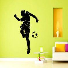 Vinyl Wall Decals Soccer Player Football Sport by WisdomDecals soccer player,  #murals