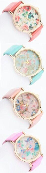 Relógios femininos florais