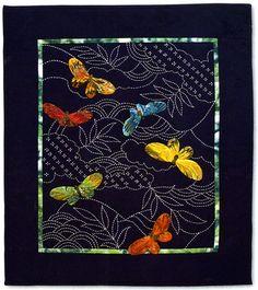 Butterflies & Sashiko Quilt  ~  Sylvia Pippen Designs (pattern $14)