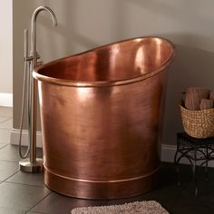 Asti Copper Japanese Soaking Tub - Bathroom