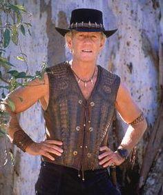 Crocodile Mick Dundee Australian Fancy Dress Costume Hat /& Waistcoat