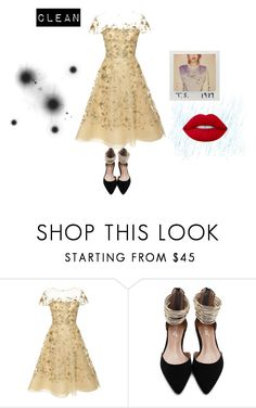 """Clean"" by manugata ❤ liked on Polyvore featuring Oscar de la Renta and Lime Crime"
